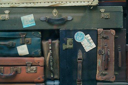 valigie per le vacanze-bandiere blu
