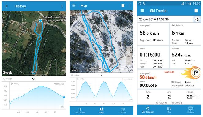 Monitoraggio sci ski tracker APP